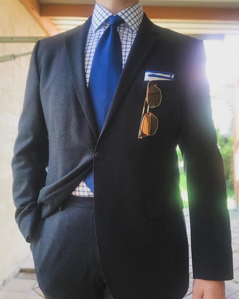 Suit with Tie and Square