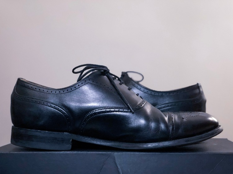 Cheaney medallion toe oxford shoes with Dainite soles