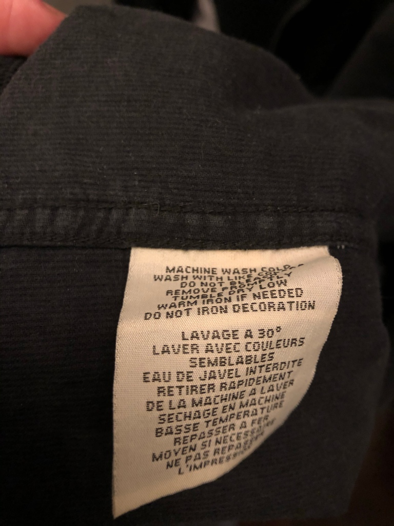 RL Denim and Supply Care Tag
