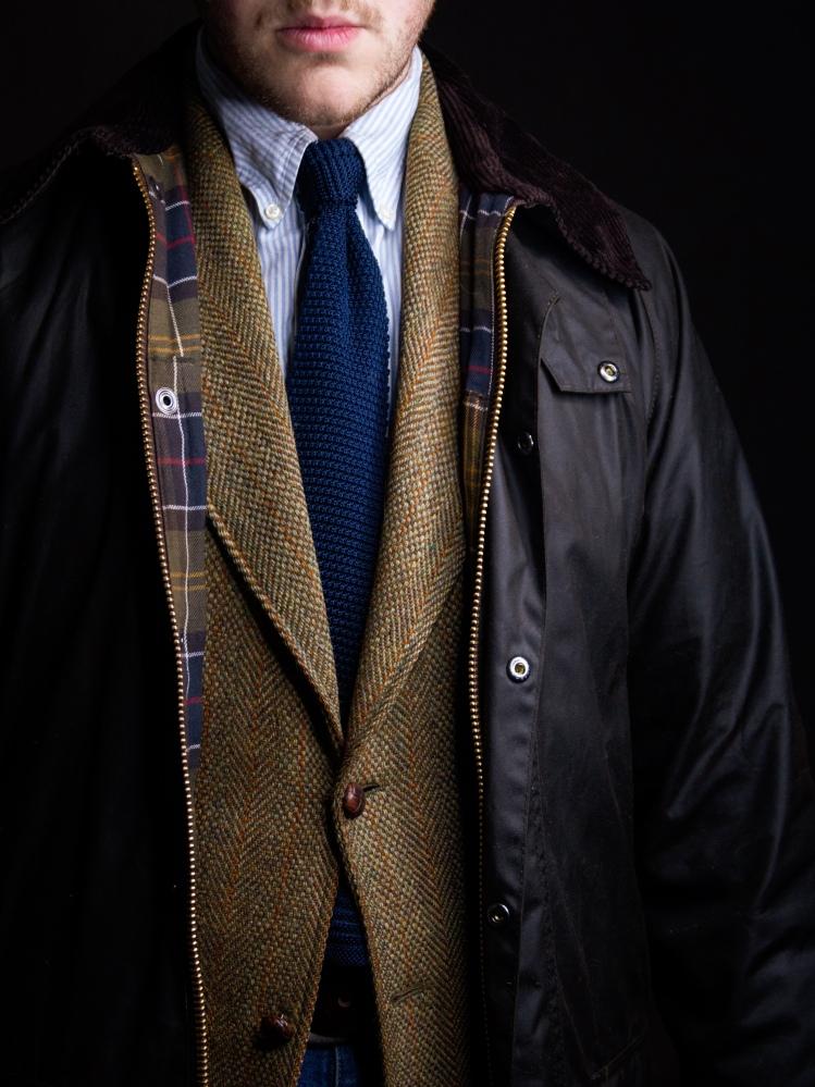 Harris Tweed Jacket Outfit Australia Barbour Beaufort