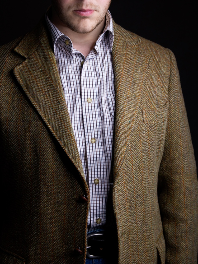 Harris Tweed Jacket Outfit Australia Tattersall Shirt