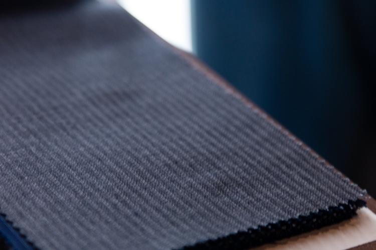 Guabello Self Stripe Suit Fabric