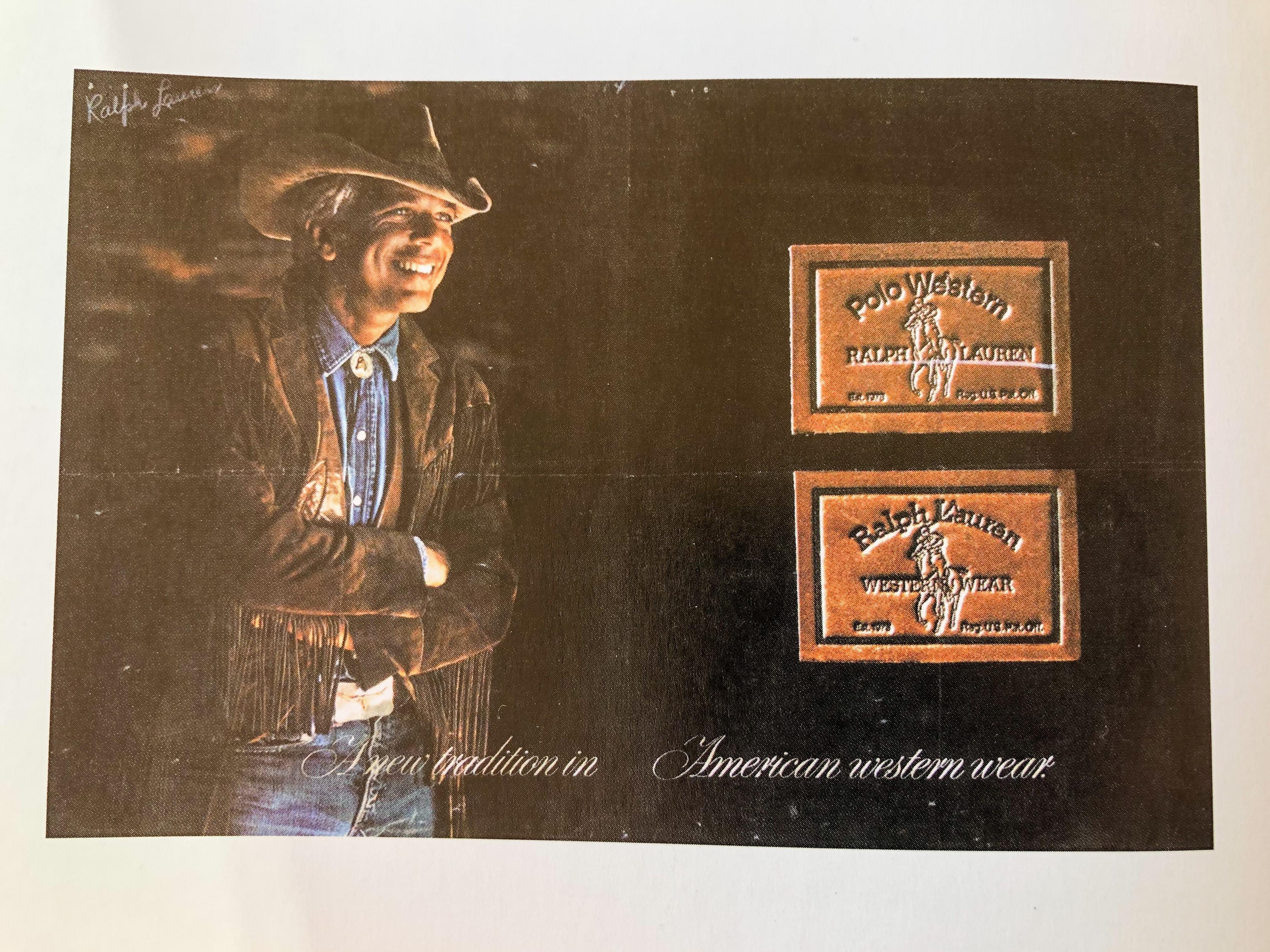 Polo Western Wear Ad Vintage Ralph Lauren