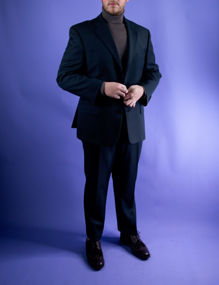 Suit and Turtleneck Outfit Louis Feraud Charles Tyrwhitt