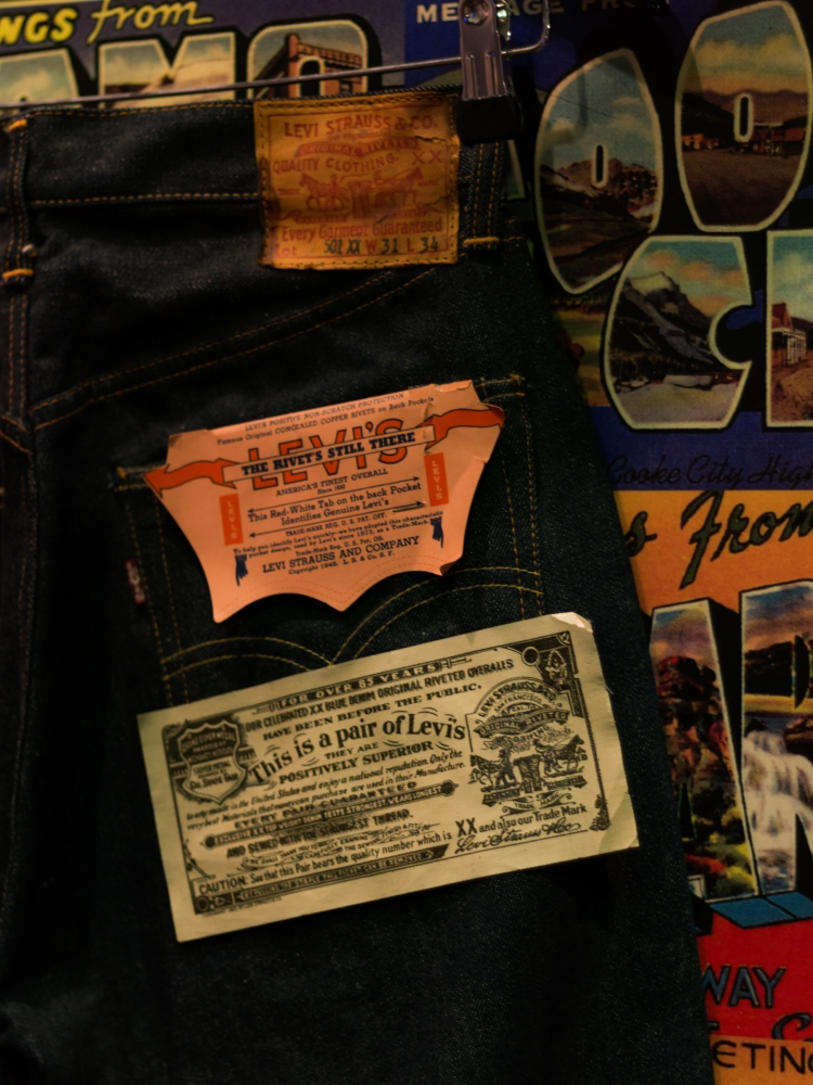 Levis 501XX Original 1950s Tags