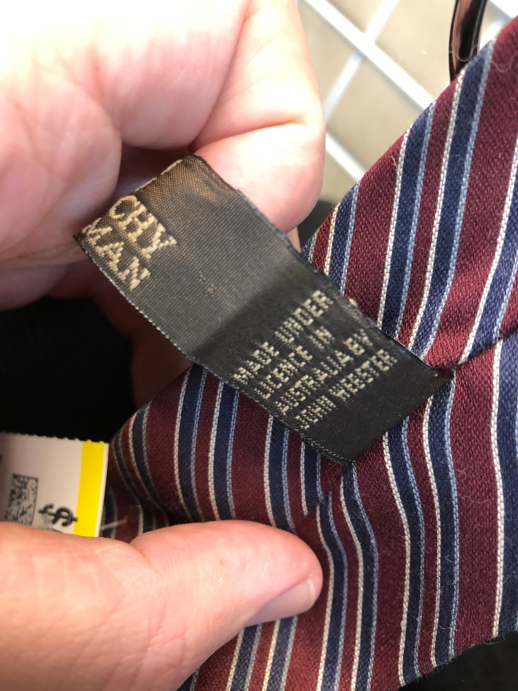 Givenchy Made Under License Tie - Not Worth Buying!