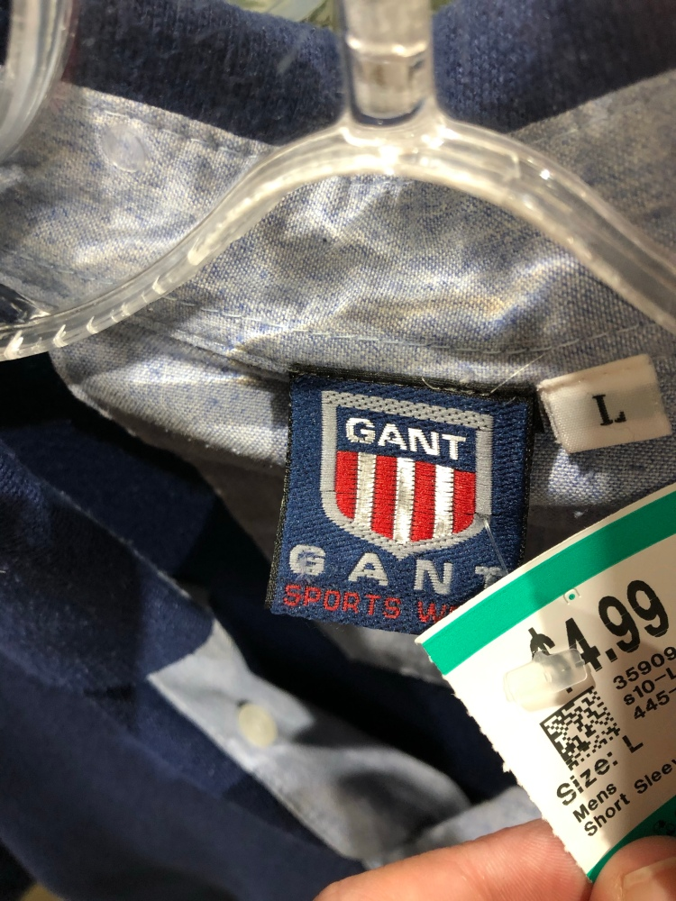How to spot fake and counterfeit Gant clothing shirts polos