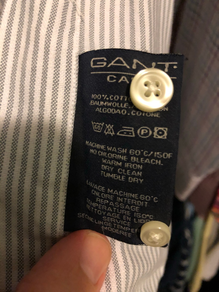 Gant shirts authentication guide