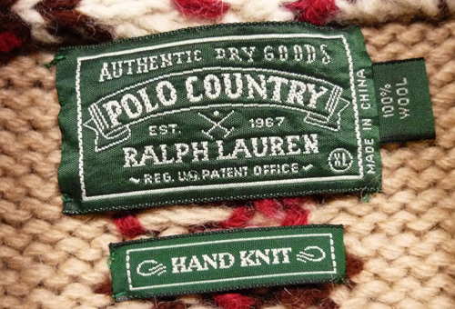 Polo Country Ralph Lauren tag - Ralph Lauren Brand Guide
