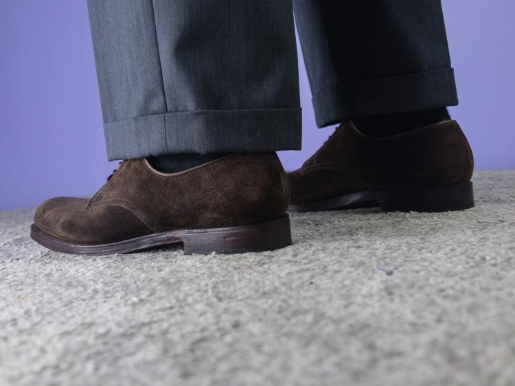 Crockett & Jones Grasmere 3 suede derby shoes